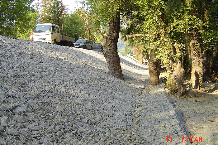 Restoration of flood damage between sections 46-47 km on route 11